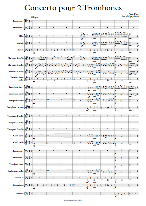 Concerto pour 2 Trombones - Trombones et Orchestre d'Harmonie - PIZON P. - app.scorescoreTitle
