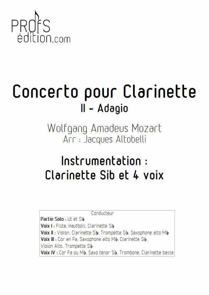 Concerto pour Clarinette KV622 (Adagio) - Ensemble Géométrie Variable - MOZART W. A. - front page