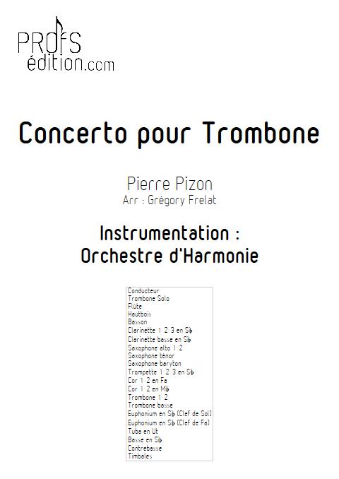 Concerto pour Trombone - Trombone et Orchestre d'Harmonie - PIZON P. - front page