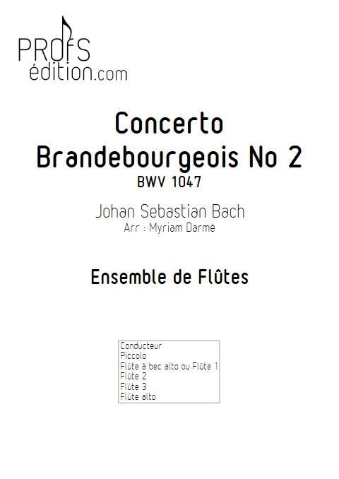 Concerto brandebourgeois n°2 - Ensemble de flûtes - BACH J. S. - front page