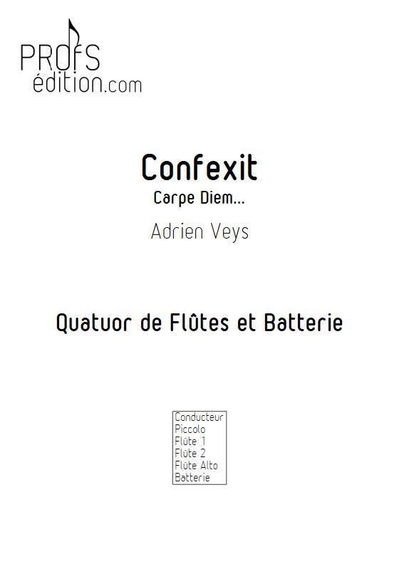 Confixit - Quatuor de Flûtes - VEYS A. - front page