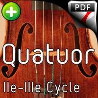 Clavier bien tempéré BWV 871 - Quatuor à Cordes - BACH J. S.
