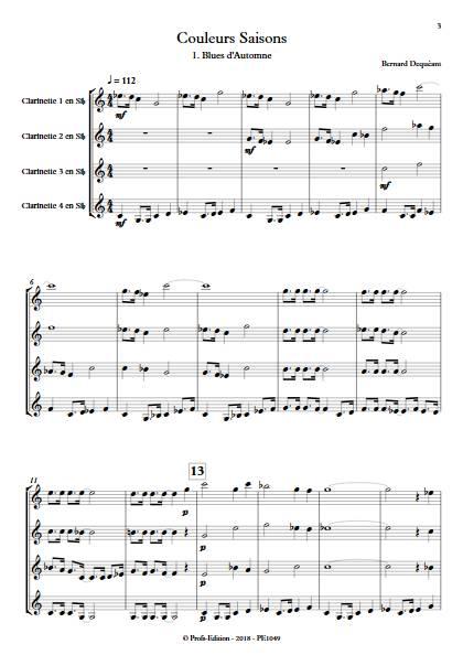 Couleurs Saisons - Quatuor de Clarinettes - DEQUEANT B. - app.scorescoreTitle