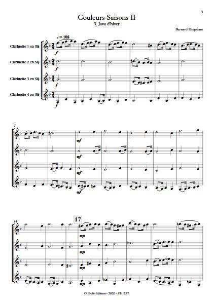 Couleurs Saisons II - Quatuor de Clarinettes - DEQUEANT B. - app.scorescoreTitle