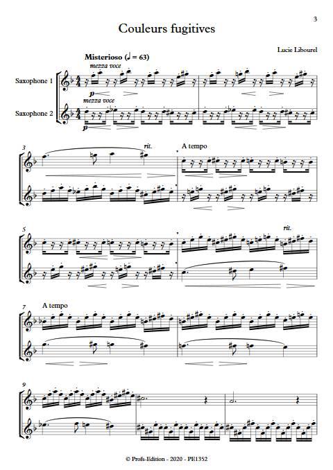 Couleurs fugitives - Duo de Saxophones - LIBOUREL L. - app.scorescoreTitle