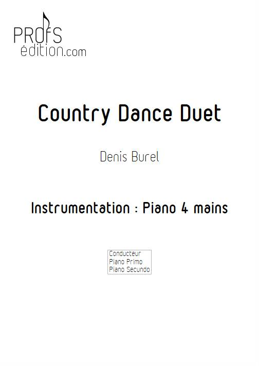 Country Dance Duet - Piano 4 mains - BUREL D. - front page