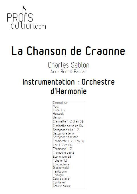La Chanson de Craonne - Orchestre d'Harmonie - SABLON C. - front page