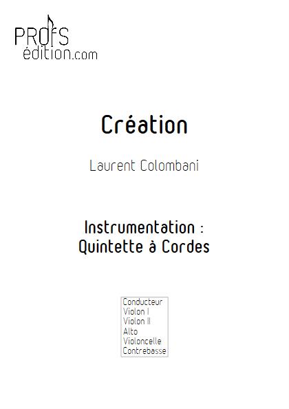 Création - Quintette à Cordes - COLOMBANI L. - front page