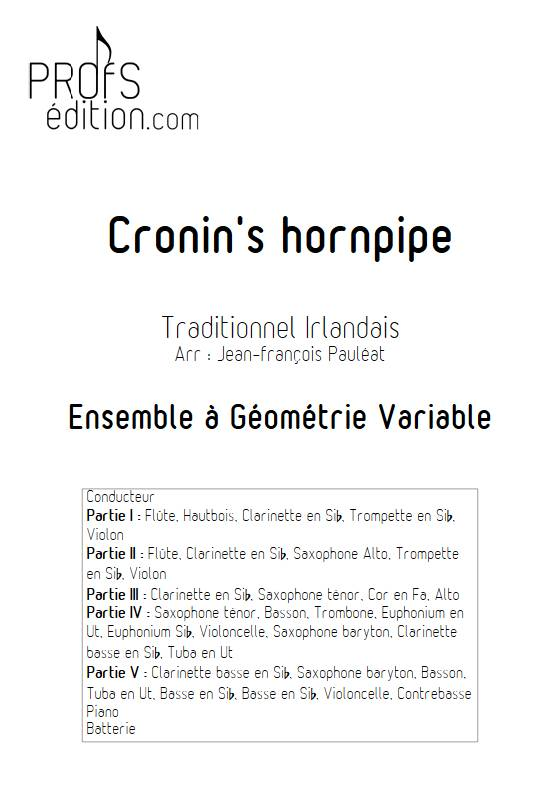 Cronin's hornpipe - Ensemble Variable - TRADITIONNEL IRLANDAIS - front page