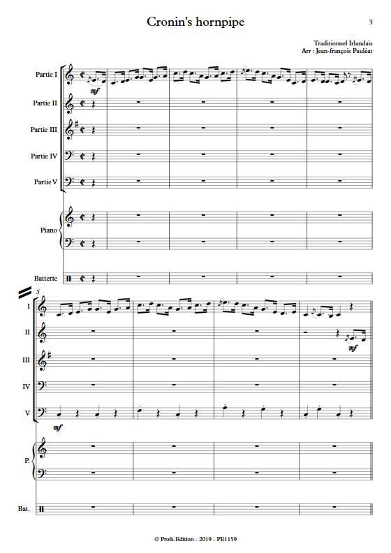Cronin's hornpipe - Ensemble Variable - TRADITIONNEL IRLANDAIS - app.scorescoreTitle