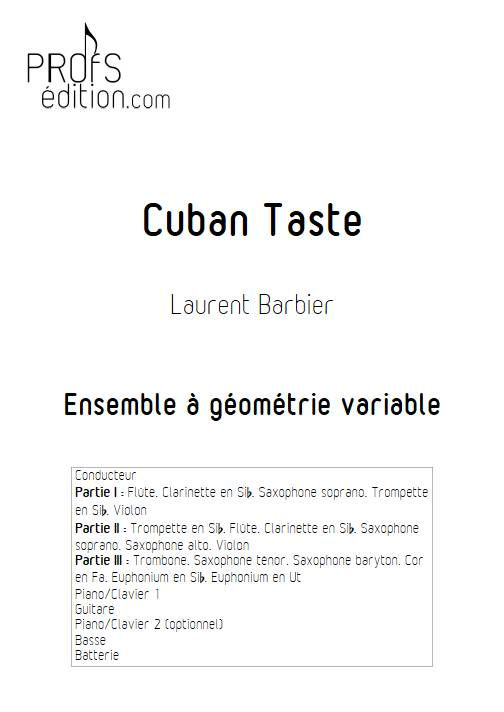 Cuban Taste - Ensemble Variable - BARBIER L. - front page