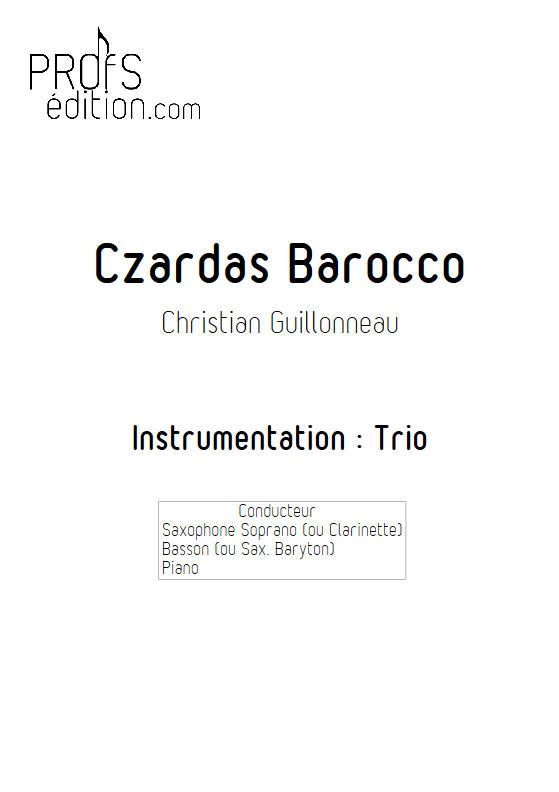 Czardas Barocco - Trio Saxophone Basson Piano - GUILLONNEAU C. - front page