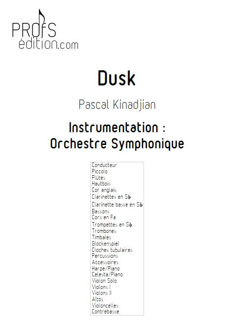 Dusk - Orchestre Symphonique - KINADJIAN P. - front page