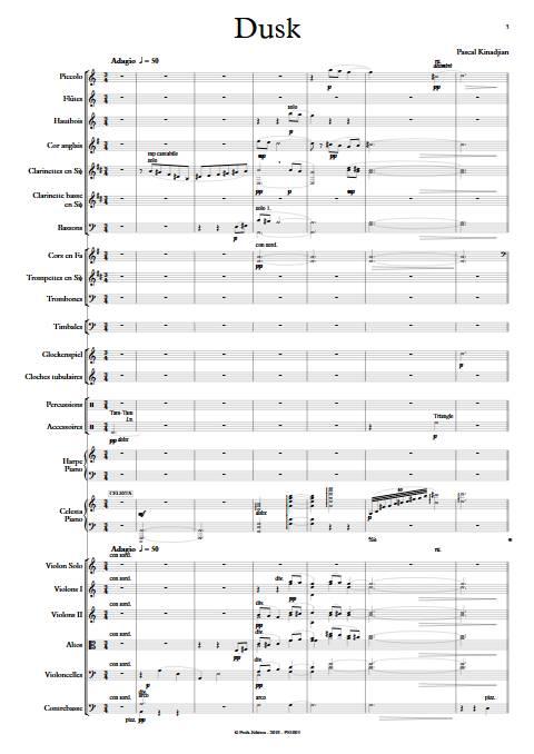 Dusk - Orchestre Symphonique - KINADJIAN P. - app.scorescoreTitle
