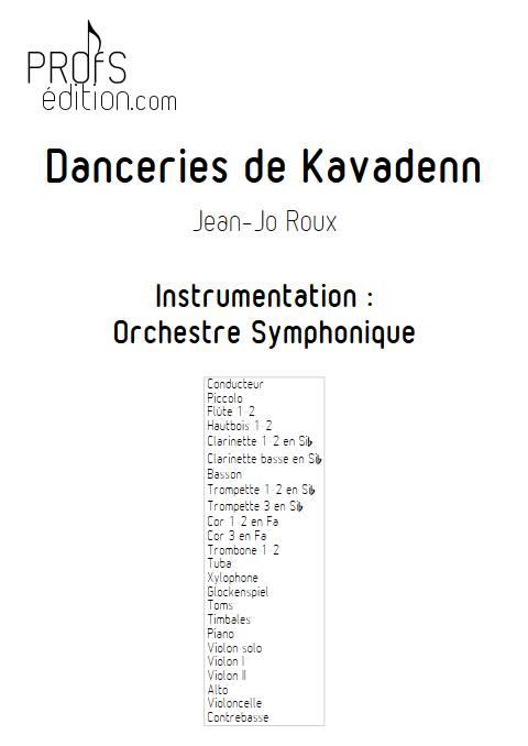 Danceries de Kavadenn - Orchestre symphonique - ROUX J.J. - front page