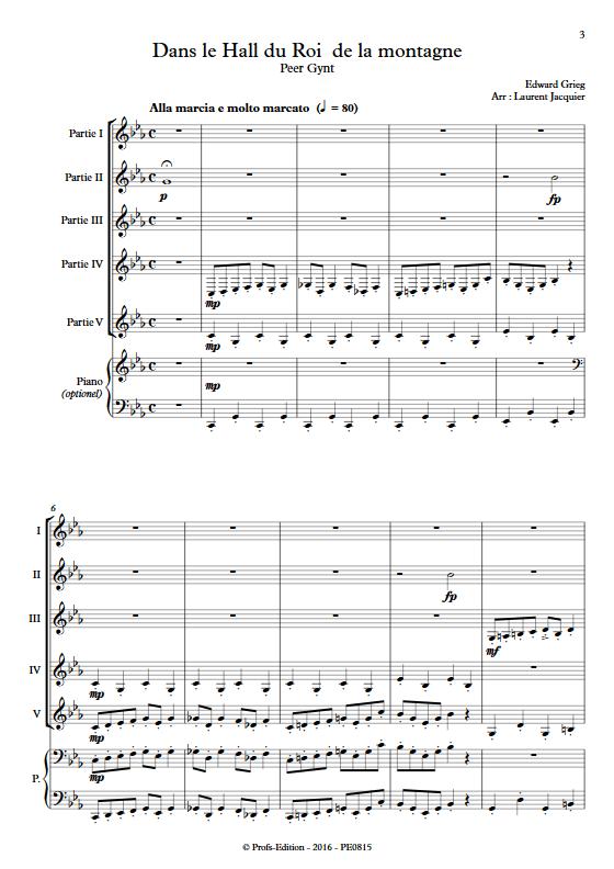Dans le Hall du Roi de la montagne - Ensemble à Géométrie Variable - GRIEG E. - app.scorescoreTitle