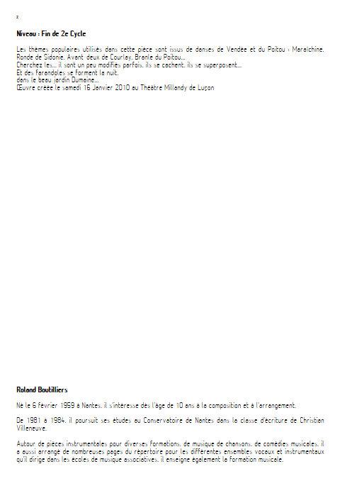 Dans les Jardins de Luçon - Orchestre d'Harmonie - BOUTILLIERS R. - Educationnal sheet