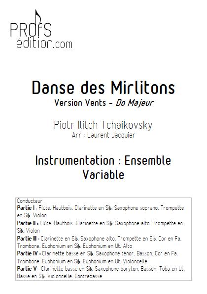 Danse des Mirlitons - Ensemble à Géométrie Variable - TCHAIKOVSKY P. I. - front page