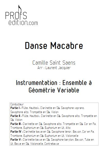 Danse Macabre - Ensemble à Géométrie Variable - SAINT-SAENS C. - front page