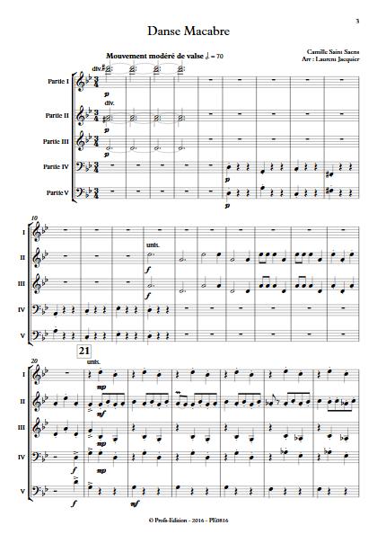 Danse Macabre - Ensemble à Géométrie Variable - SAINT-SAENS C. - app.scorescoreTitle