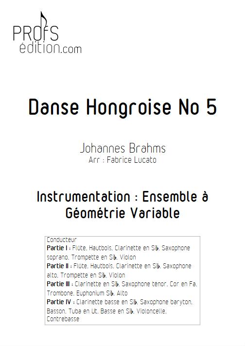 Danse Hongroise n°5 - Ensemble Variable - TRADITIONNEL - front page