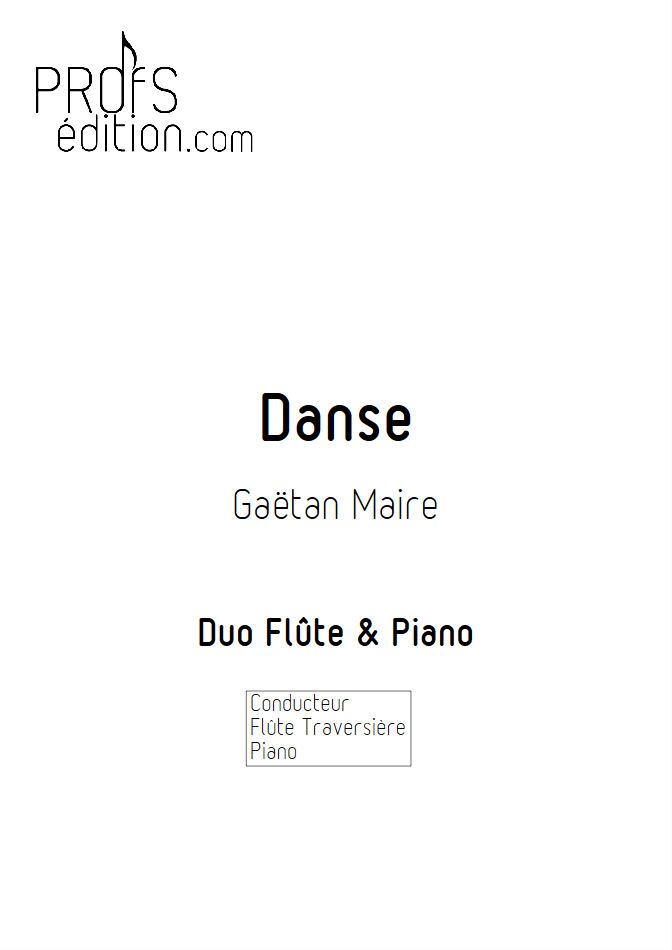 Danse - Duo Flûte & Piano - MAIRE G. - front page