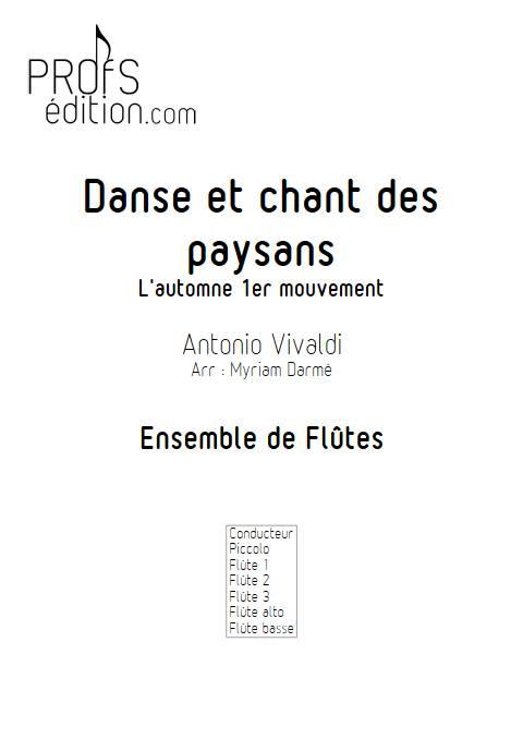 Automne 1er mvt - Ensemble de flûtes - VIVALDI A. - front page