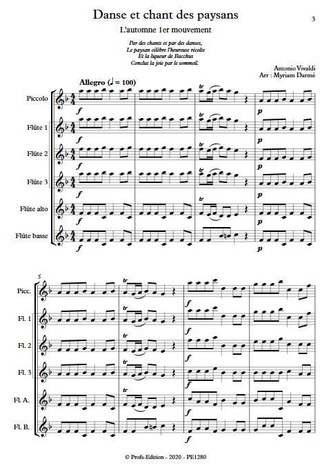 Automne 1er mvt - Ensemble de flûtes - VIVALDI A. - app.scorescoreTitle