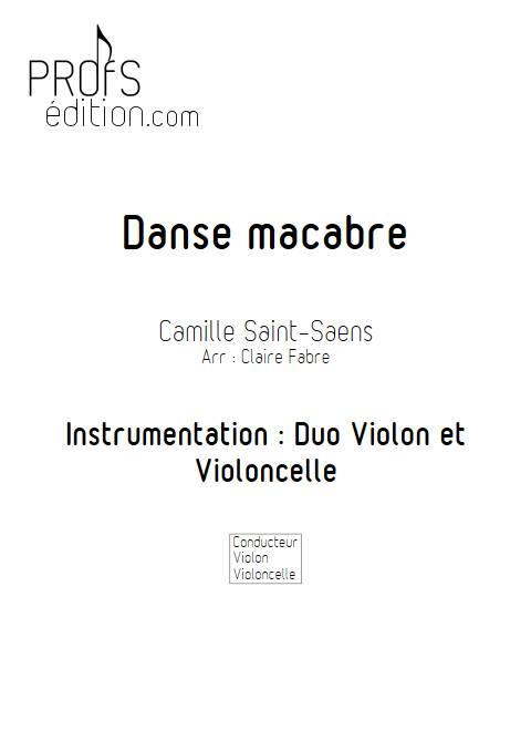 Danse macabre - Duo violon Violoncelle - SAINT-SAENS C. - front page