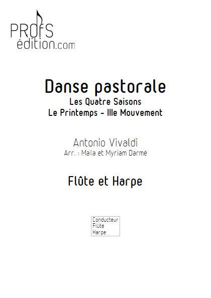 Danse pastorale - Flûte & Harpe - VIVALDI A. - front page