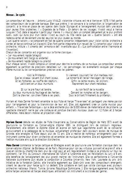 Danse pastorale - Flûte & Harpe - VIVALDI A. - Educationnal sheet
