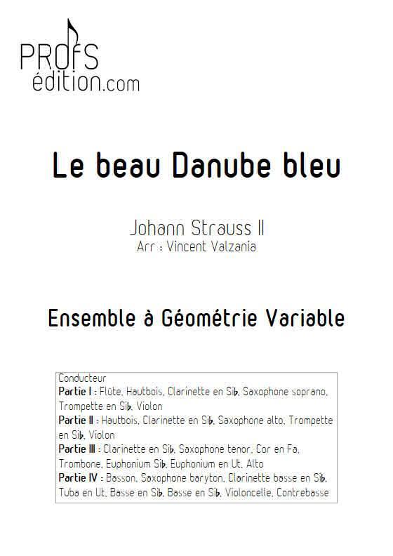 Le beau Danube bleu - Ensemble Variable - STRAUSS J. II - front page