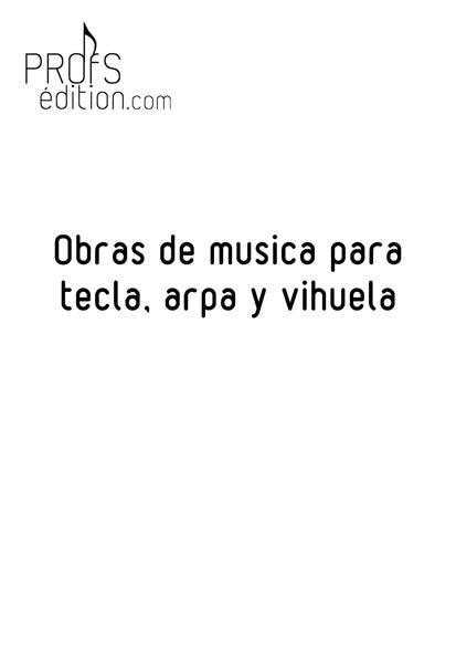 Obras de musica para tecla, arpa y vihuela - Poster - CHARLIER C. - front page