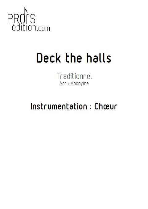 Deck the halls - Chœur seul - TRADITIONNEL - front page