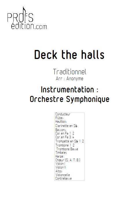 Deck the halls - Orchestre Symphonique & Chœur - TRADITIONNEL - front page