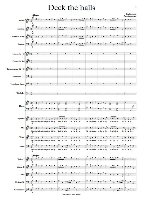 Deck the halls - Orchestre Symphonique & Chœur - TRADITIONNEL - app.scorescoreTitle