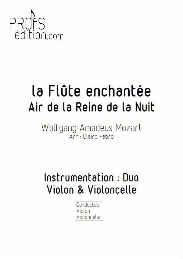 Air de la Reine de la Nuit - Duo Violon Violoncelle - MOZART W. A. - front page