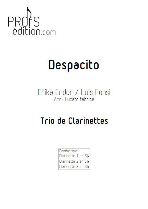 Despacito - Trio Clarinettes - FONSI L. - front page