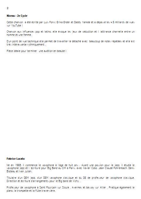 Despacito - Trio Clarinettes - FONSI L. - Educationnal sheet