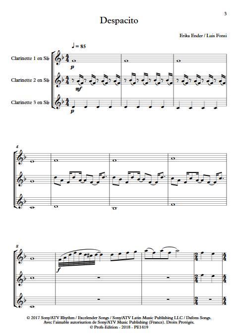 Despacito - Trio Clarinettes - FONSI L. - app.scorescoreTitle