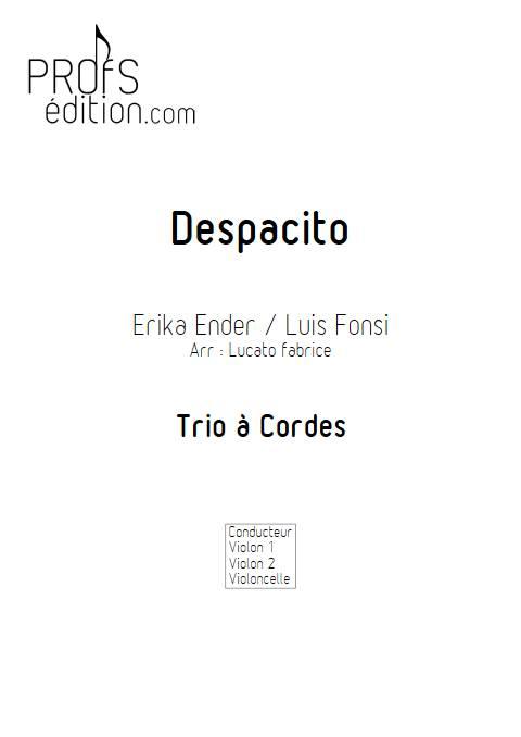 Despacito - Trio à cordes - FONSI L. - front page