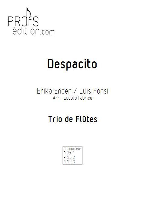 Despacito - Trio de Flûtes - FONSI L. - front page