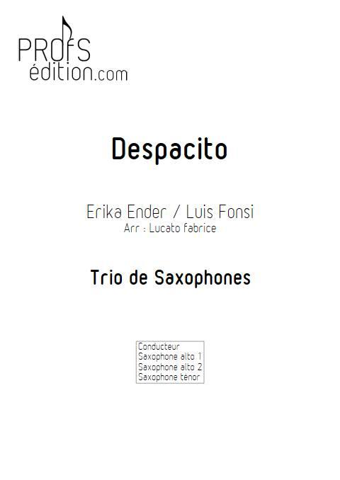 Despacito - Trio Saxophones - FONSI L. - front page