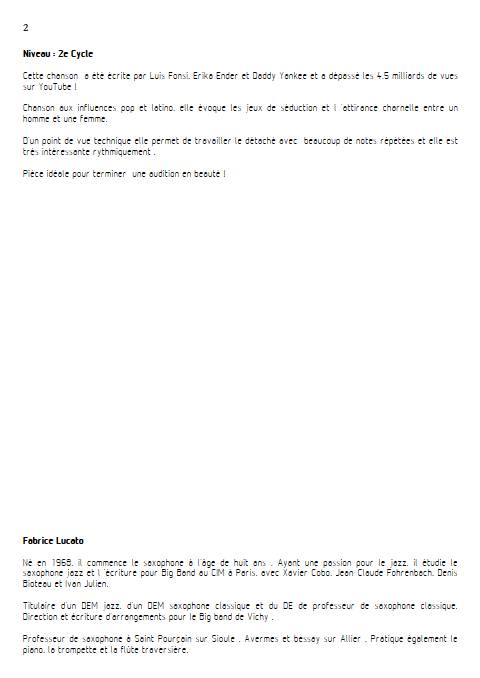 Despacito - Trio de Tubas - FONSI L. - Educationnal sheet
