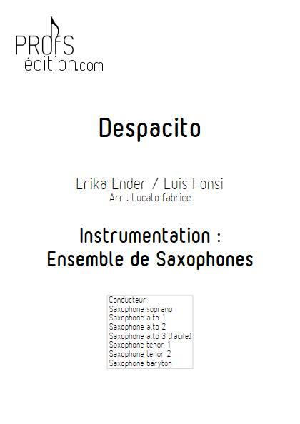 Despacito - Ensemble de Saxophones - FONSI L. - front page