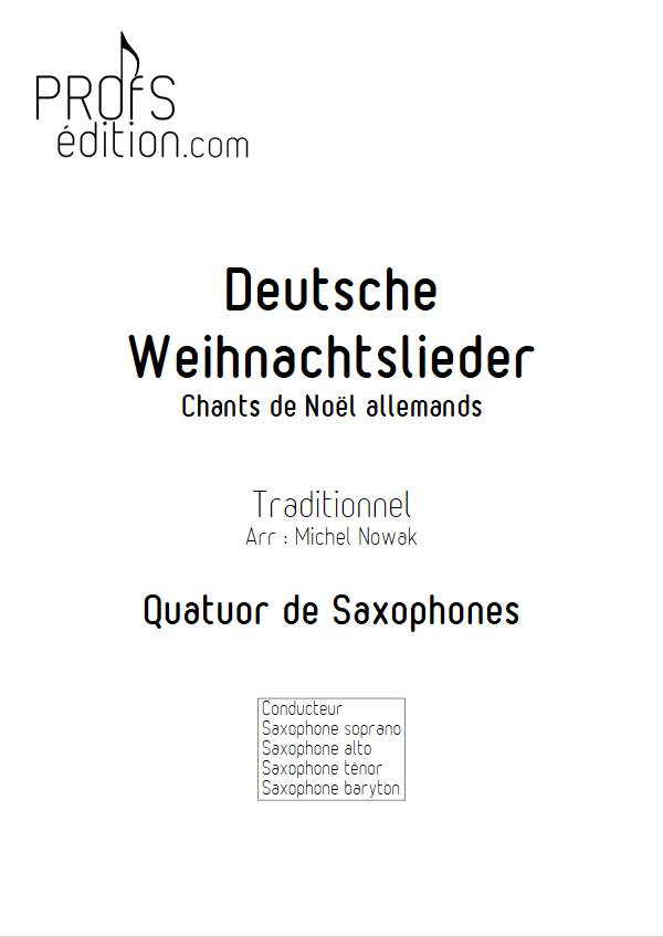 Deutsche Weihnachtslieder - Quatuor de Saxophones - TRADITIONNEL ALLEMAND - front page