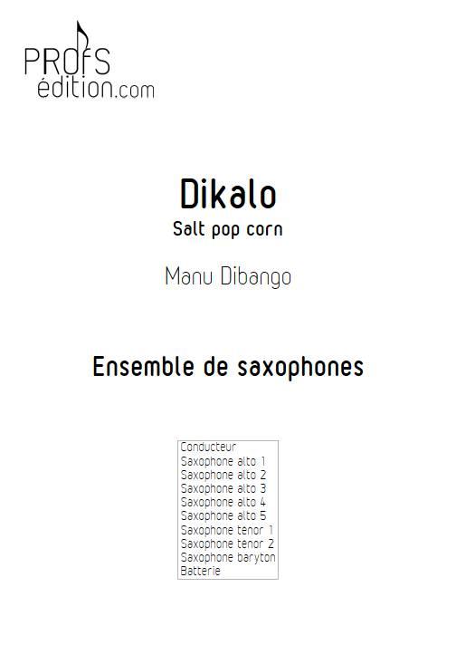 Dikalo - Ensemble de saxophones - DIBANGO M. - front page