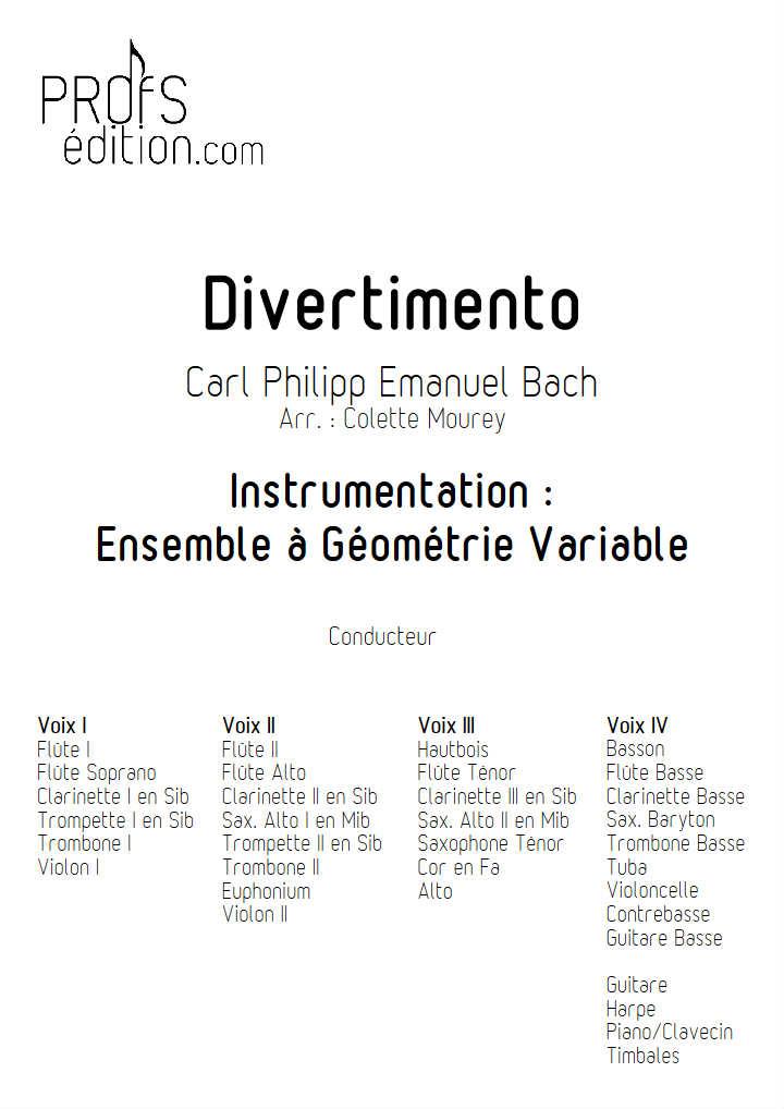 Divertimento - Ensemble à Géométrie Variable - BACH C. P. E. - front page