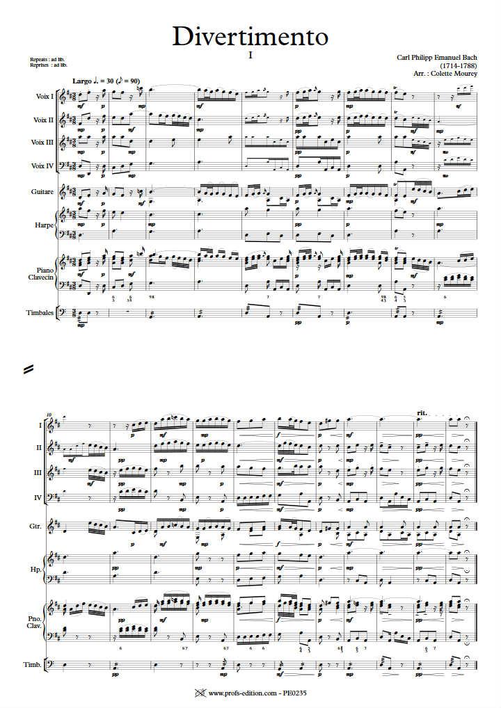Divertimento - Ensemble à Géométrie Variable - BACH C. P. E. - app.scorescoreTitle