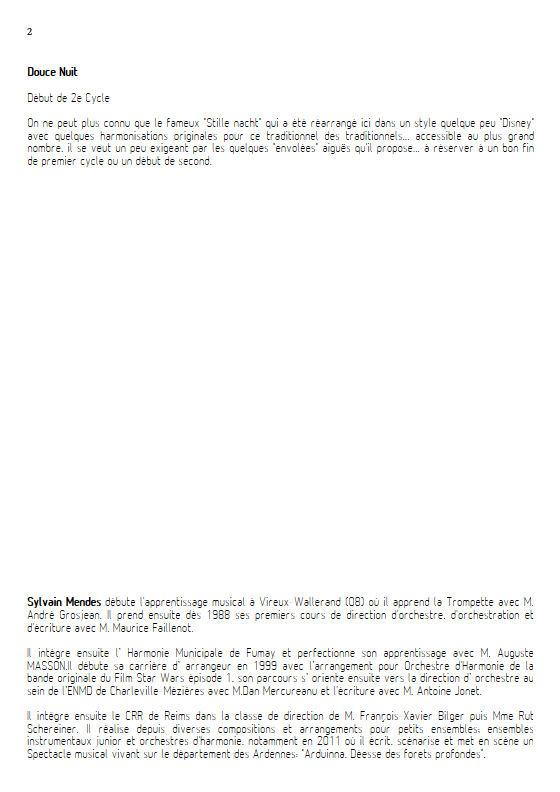 Douce Nuit - Quatuor Cuivres - TRADITIONNEL - Educationnal sheet